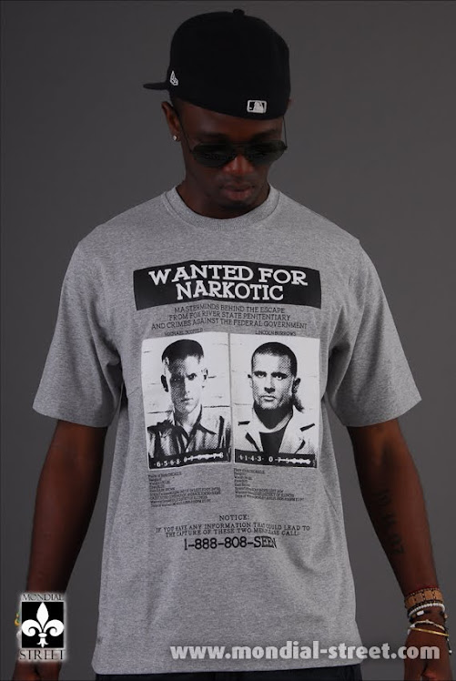 "Tee shirt Narkotic wear ""Wanted for Narkotic"""