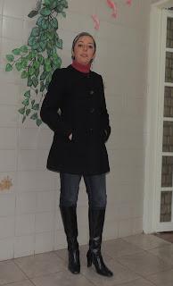 look inverno casaco bota