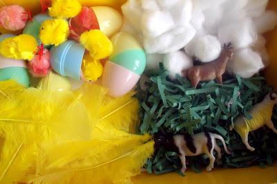 Easter Sensory Tub for Preschoolers