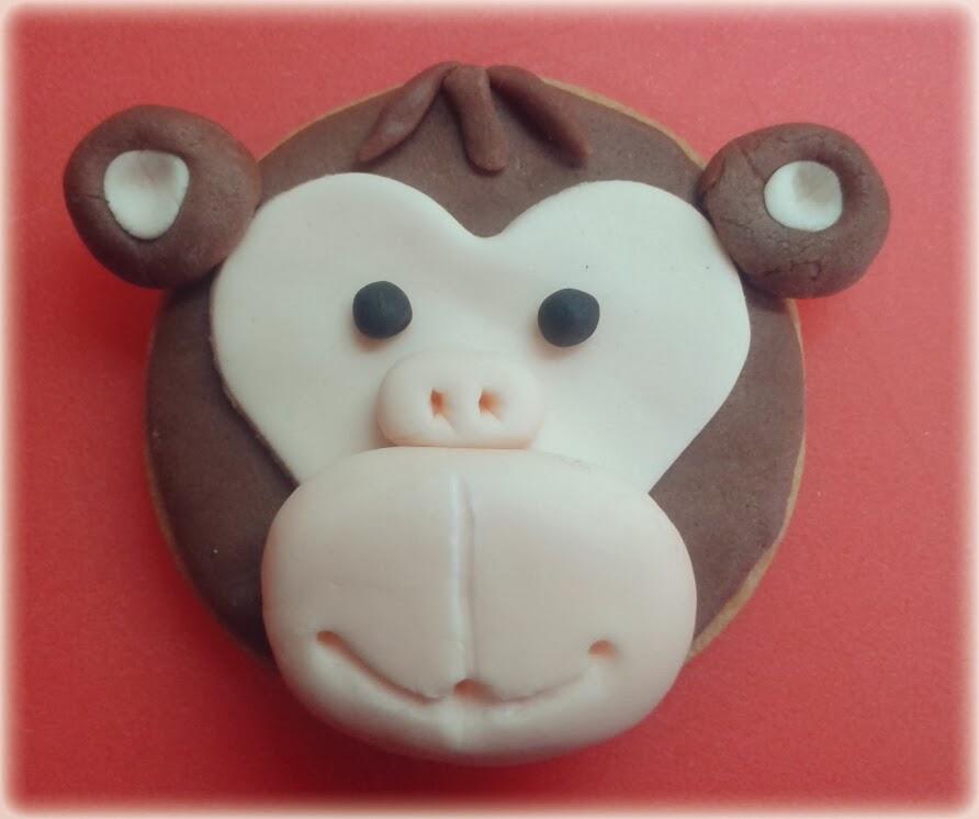 Galleta Mono con fondant