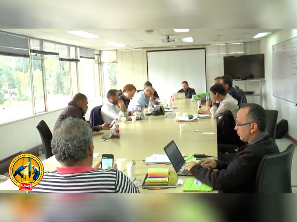 Reunión entre delegados de organizaciones sindicales internacionales y USO