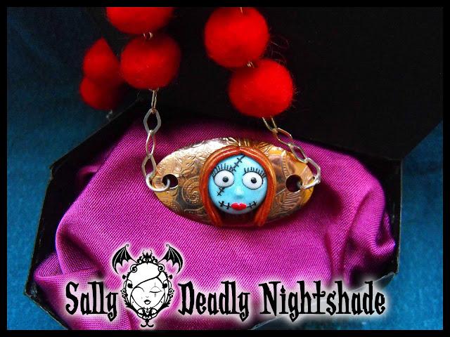 Collana Sally con perle in feltro rosse - base e catena in argento 925
