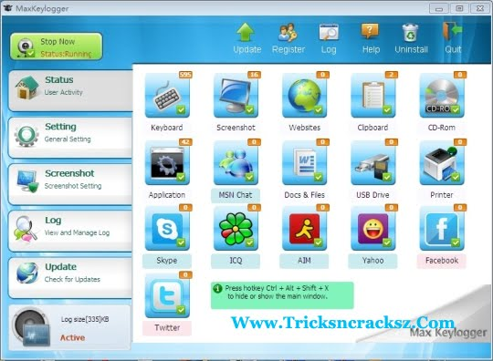 keylogger software free  full version with crack windows 7