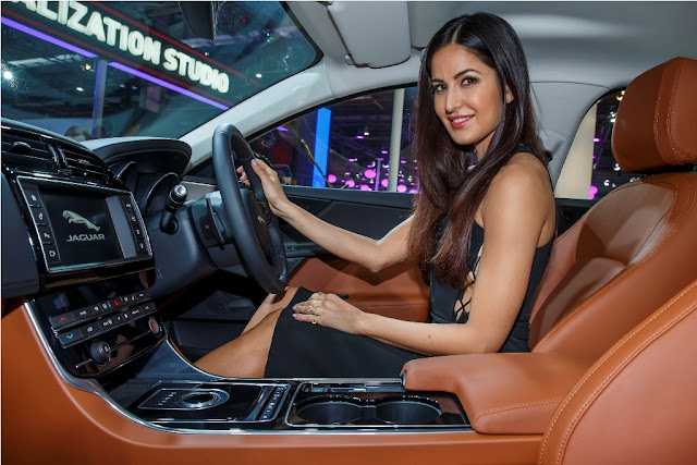 Katrina Kaif Launches Jagaur XE At INR 39.90 Lakhs At Auto Expo 2016 New Delhi