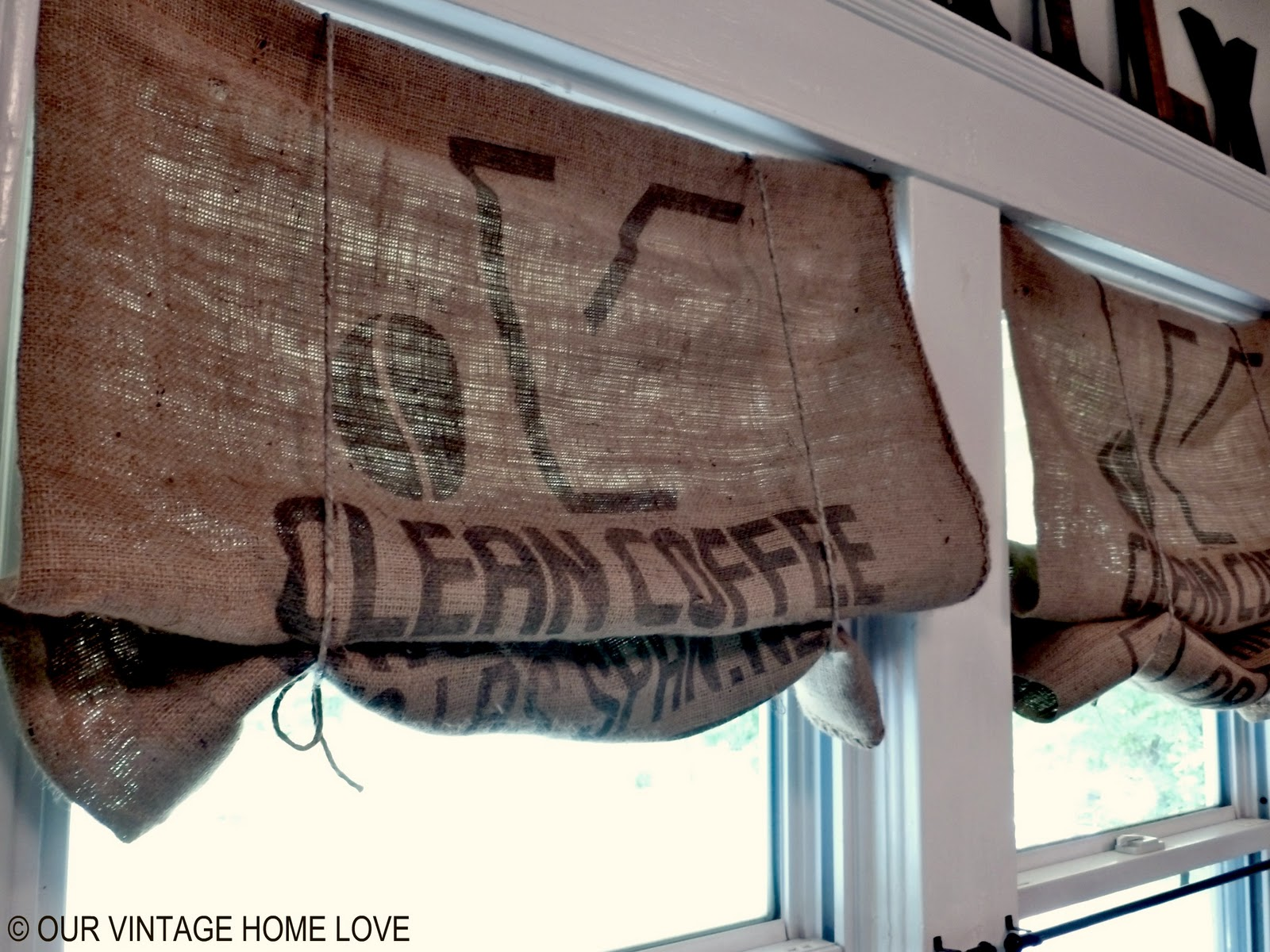 our vintage home love: Inexpensive Window Treatments and a Giveaway