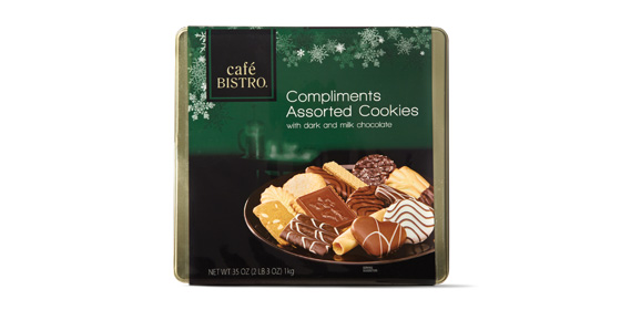 Tin Of Assorted Cookies  Contain Chocolate