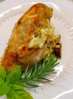 Goat Cheese & Walnut Stuffed Chicken