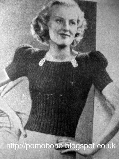 1940 Knitting Patterns Free : The Vintage Pattern Files: 1940s Knitting - Flattering Puff Sleeves