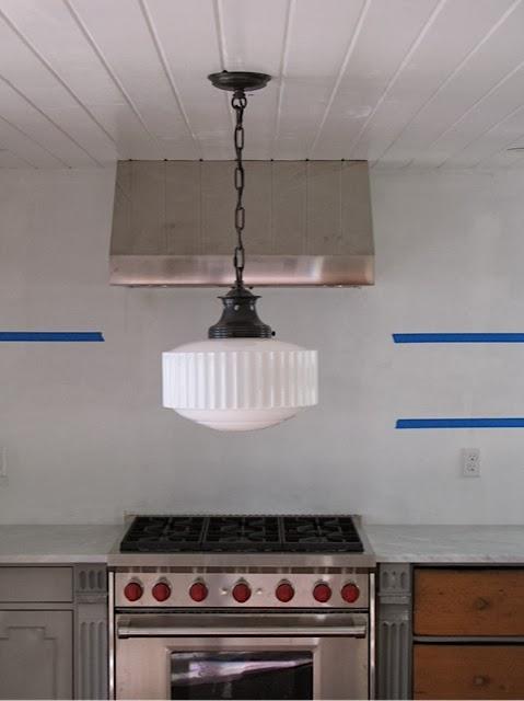 an urban cottage tile grout lights and floating shelves. Black Bedroom Furniture Sets. Home Design Ideas