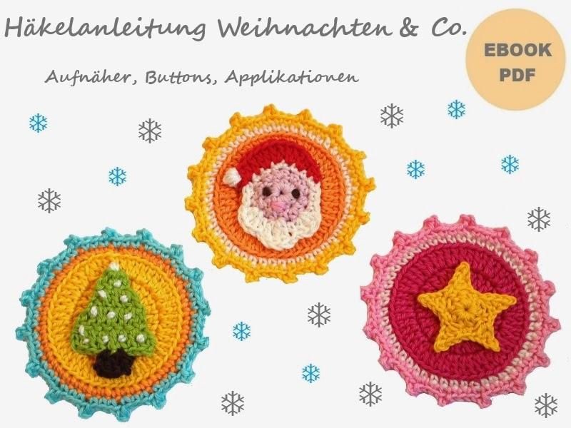 "Ebook ""Weihnachten & Co"" Aufnäher, Buttons"