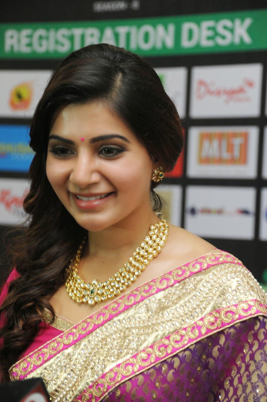 Samantha gorgeous photos in saree-HQ-Photo-8