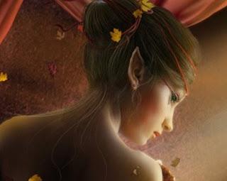 Elfa hermosa de orejas puntiagudas