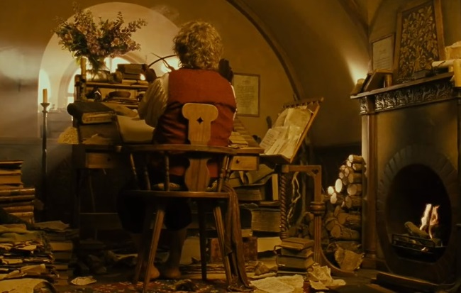 My 2016 writing goals as told by bilbo baggins further up and further in - Hobbit book ends ...