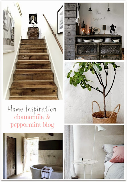 Chamomile and Peppermint Blog Home inspiration - dusty muted colours and natural materials - wood concrete vintage industrial