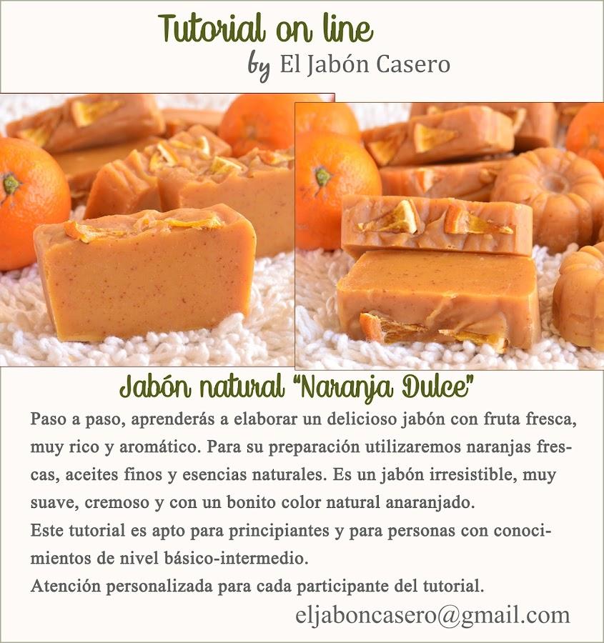 tutorial jabon naranja dulce