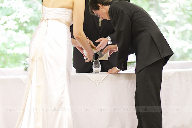 photo of sand ceremony at wedding ceremony
