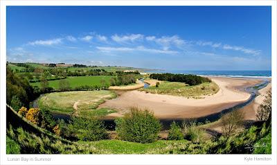 Lunan sand sea seaside beach East coast Angus Scotland tide fish eye wide angle Hamilton Kerr