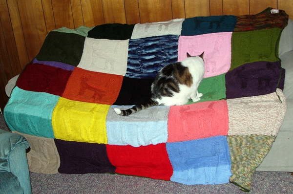 Cat Lady Knitting : Crazy cat lady carm christmas eve knitted blanket