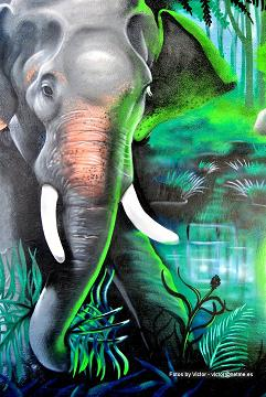 MURAL BUDA Y ANIMALES