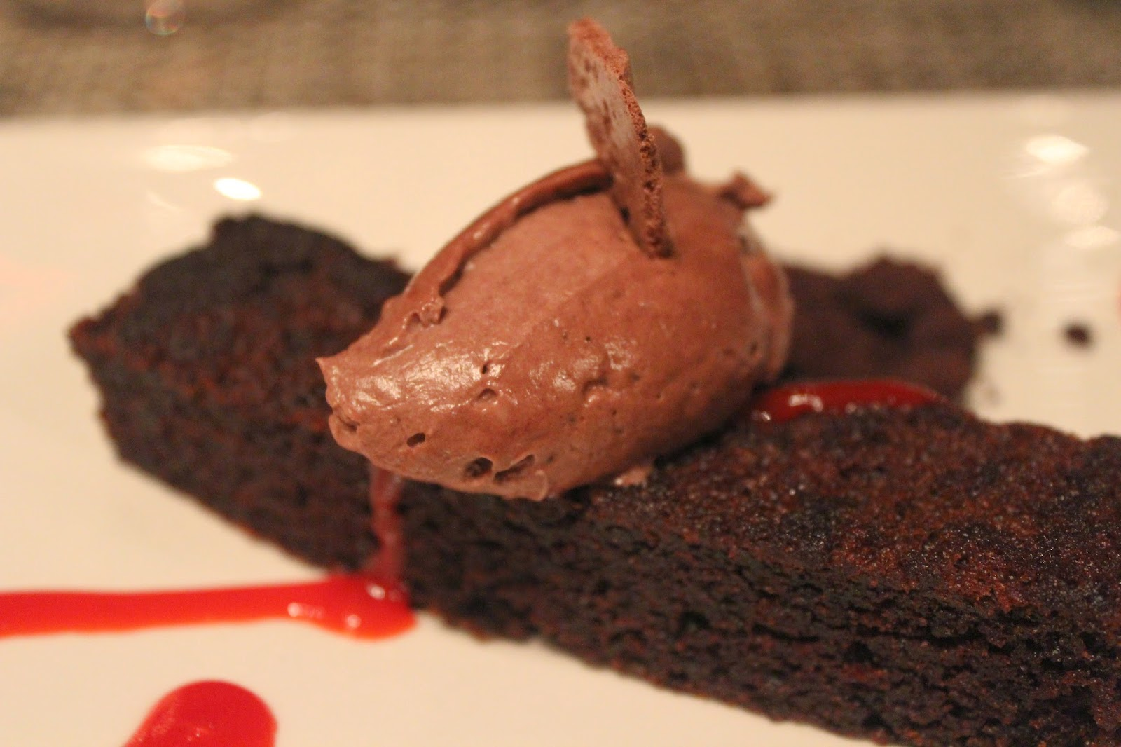 Chocolate beet cake at Post 390, Boston, Mass.