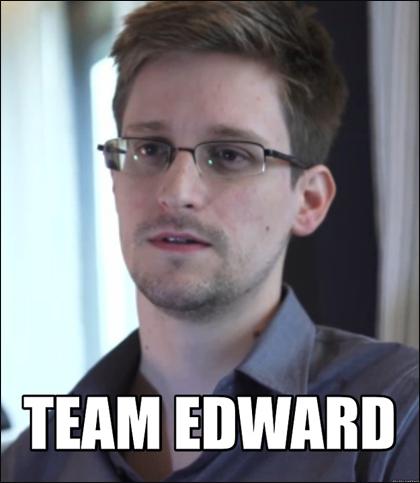 Edward Snowden MEME: Team Edward