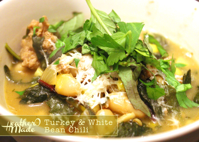 turkey and white bean chili. recipe.