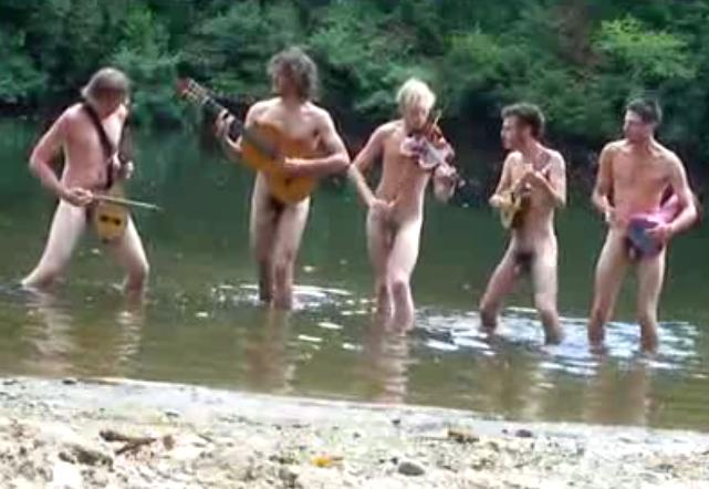 nude boys in the river
