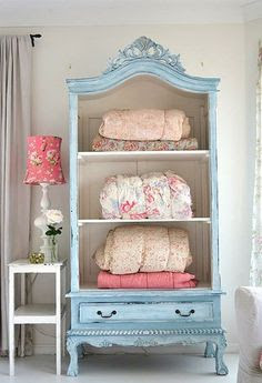 pastel blue cupboard