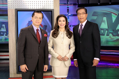 TV Patrol 25 anchors Kabayan Noli De Castro, Korina Sanchez and Ted Failon