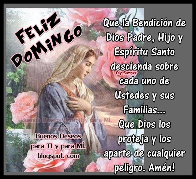 Que la Bendición de Dios Padre, Hijo y Espíritu Santo descienda sobre cada uno de Ustedes y sus Familias... Que Dios los proteja  y los aparte de cualquier peligro. Amén!