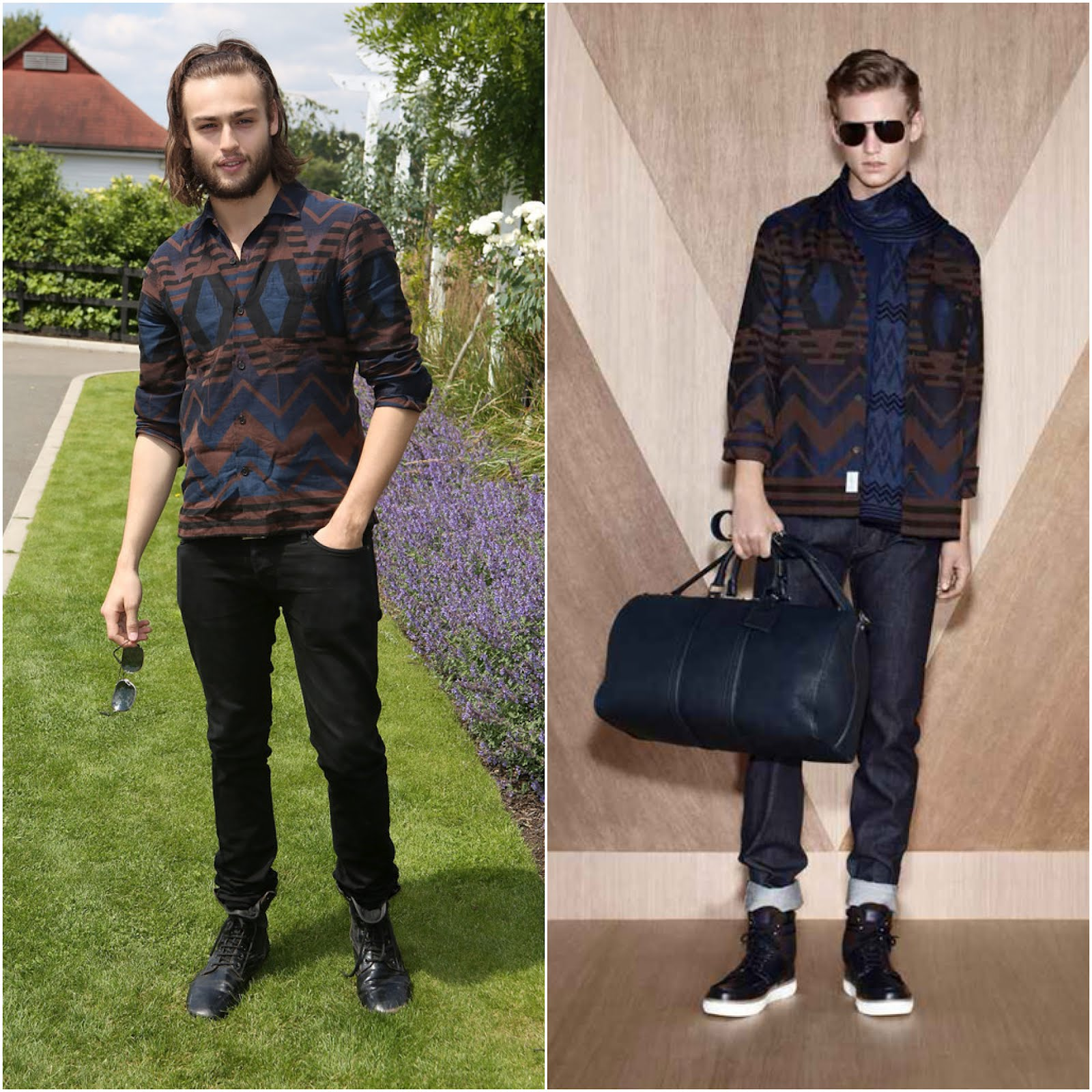 00O00 London Menswear Blog celebrity style Douglas Booth attends the Audi International Polo at Guards Polo Club on July 22, 2012 in Egham, England in Louis Vuitton Menswear Pre Fall 2012