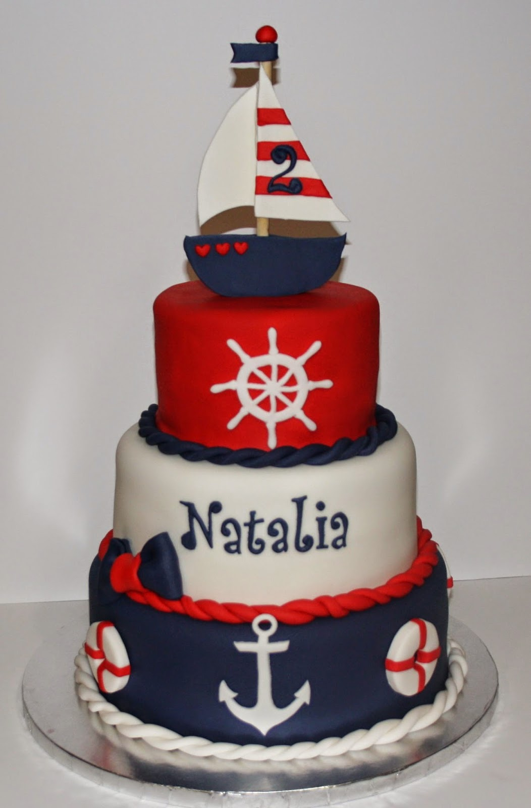 Jacquelines Sweet Shop Nautical Theme Birthday Cake