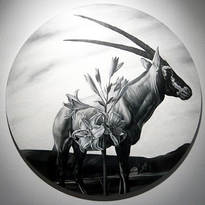 Lillies and Arabian Oryx