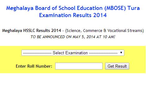 Meghalaya HSSLC Results