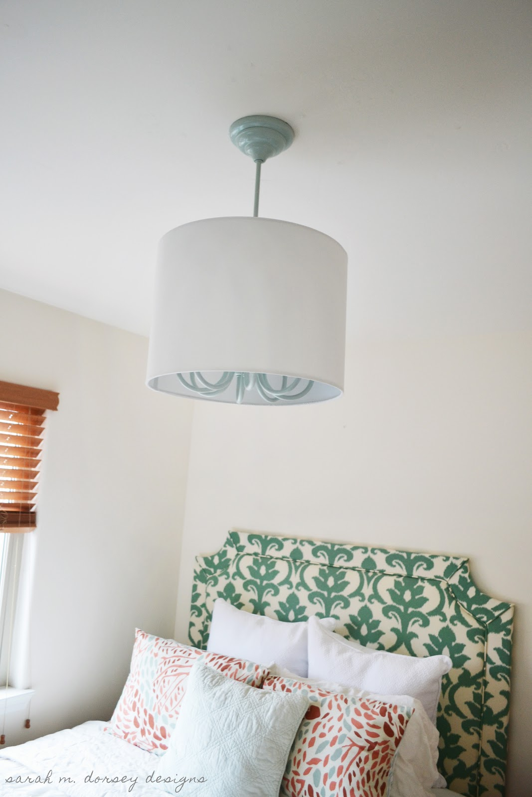 Sarah m dorsey designs how to install a drum shade over a chandelier pin it arubaitofo Images