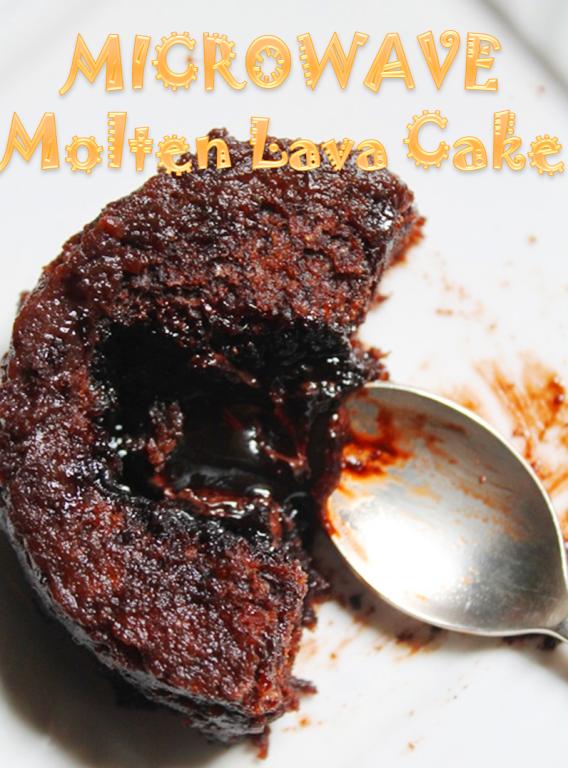 Min Molten Lava Cake In Microwave