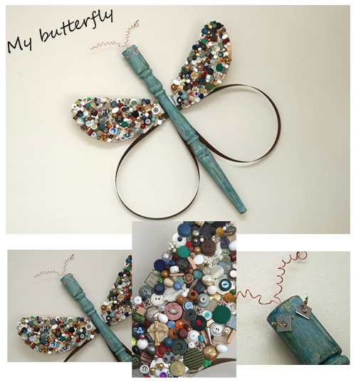 DIY butterfly from table leg
