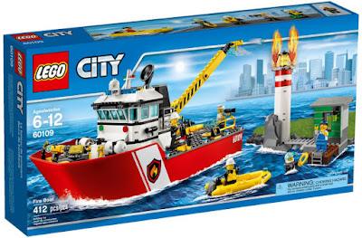 TOYS : JUGUETES - LEGO City  60109 Barco de Bomberos   Fire Boat  Producto Oficial 2016   Piezas: 412   Edad: 6-12 años  Comprar en Amazon España & buy Amazon USA