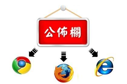如何依據不同的瀏覽器及版本發佈網站公告