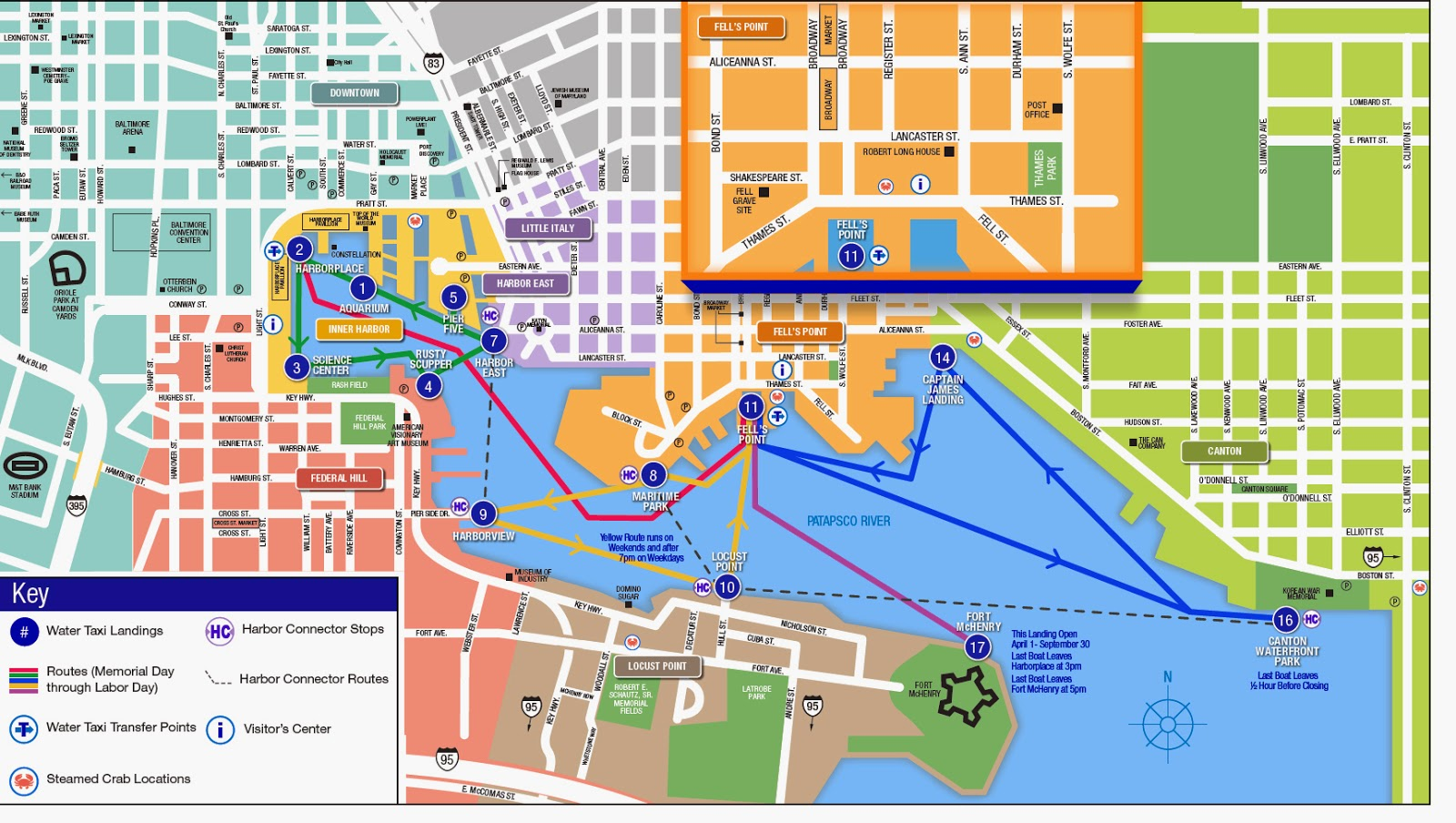 Community Architect 072514 – Baltimore Tourist Map
