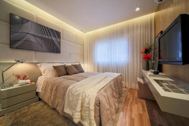 Construindo minha casa clean quartos decorados com piso for Dormitorio 3x5