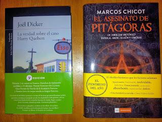 La verdad sobre el caso Harry Quebert de la editorial Alfaguara y El asesinato de Pitágoras de Duomo Ediciones