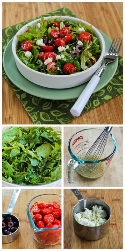 Baby Kale Greek Salad (and Ten More Meatless Salads with Kale)