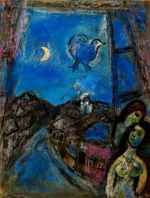 Marc Chagall, Evening at the window