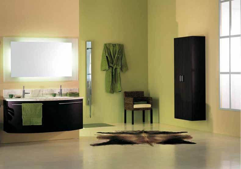 desain interior kamar mandi hijau minimalis modern