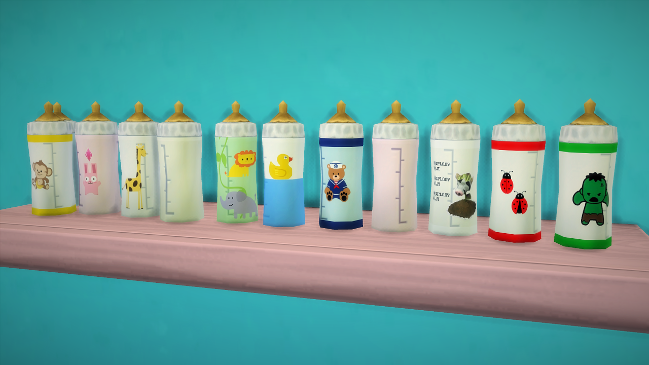 My Sims 4 Blog: Baby Bottles 2.0 and Override by Budgie2budgie