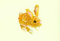 Животные из бисера объемный зайчик