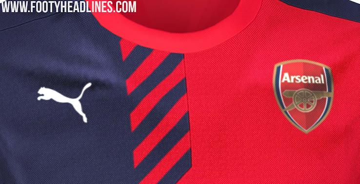 Nuevas camisetas de entrenamiento Puma del Arsenal