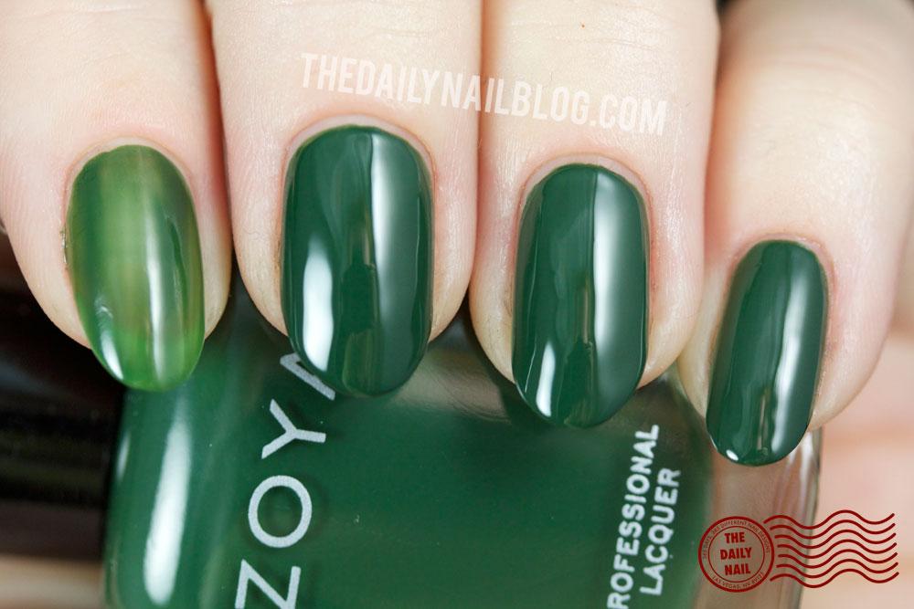 Zoya Cashmere Hunter Swatch Fall 2013