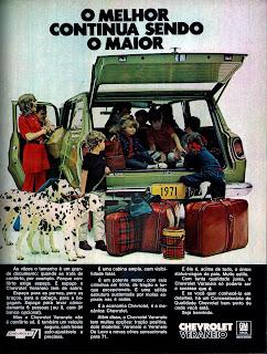 propaganda Chevrolet Veraneio - 1970; história anos 70; propaganda década de 70; Brazilian advertising cars in the 70s; reclame anos 70; Oswaldo Hernandez;